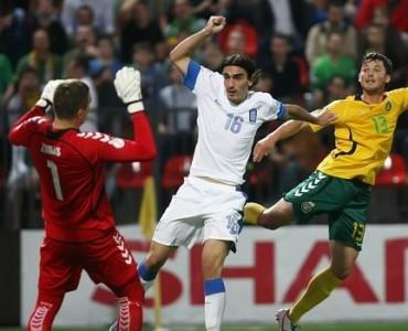 ワールドカップ2014予選:ギリシャ、リトアニアに1-0で快勝