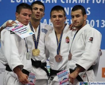 柔道欧州選手権2013サラエボ:ギリシャのアゾイディス、金