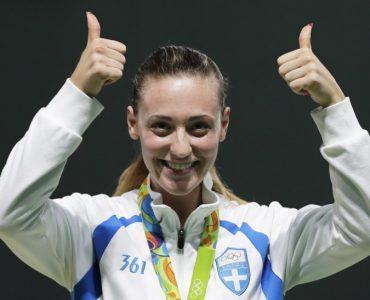リオ五輪:ギリシャのコラカキ、女子エアピストルで今大会ギリシャ初のメダル