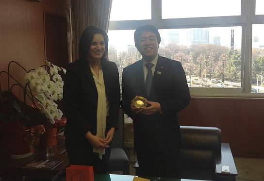 Με τον Ιάπωνα υπουργό Τουρισμού κ. Υosuke Tsuruho