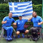 Γιώργο Λαζαρίδης και Στέφανος Διαμαντής με τον ομοσπονδιακό προπονητης Γιώργο Κόντο