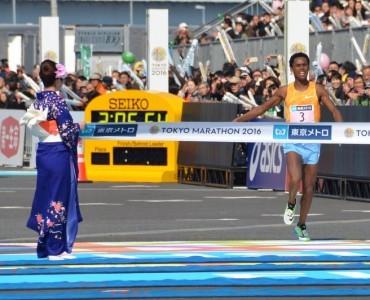 東京マラソン2016:好天の下、世界各国から総勢36,172人が参加
