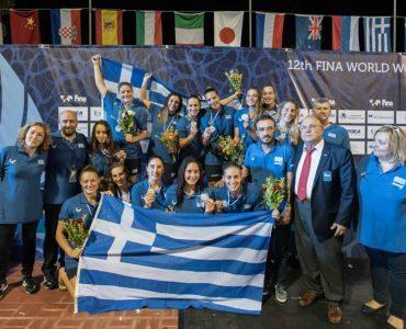 水球・世界女子ジュニア選手権2017:ギリシャ代表、銀メダル