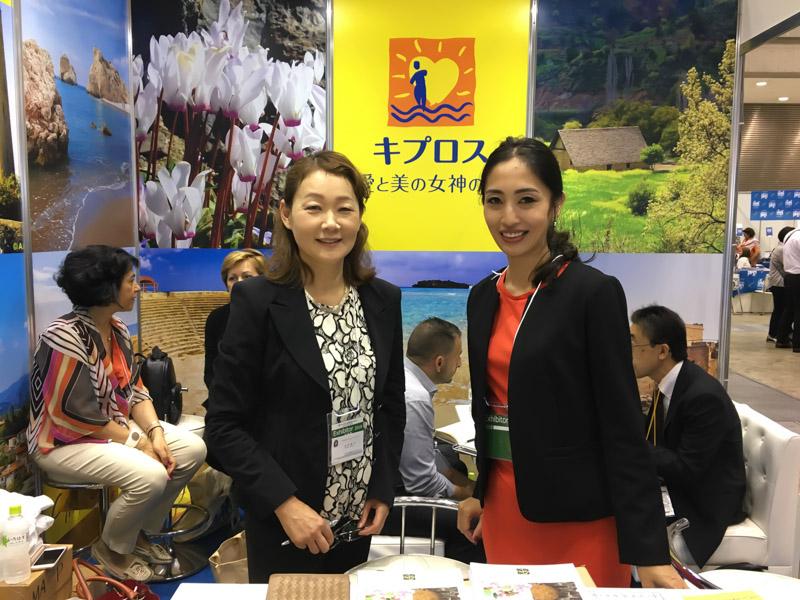 右から:留学Cyprus JPのスタヴル千穂氏、キプロス・インフォメーションサービスの志村暁子氏