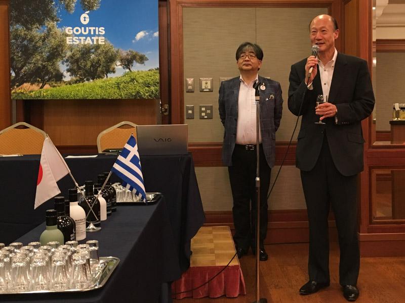 祝辞を述べるイオン株式会社の若生信弥・執行役副社長
