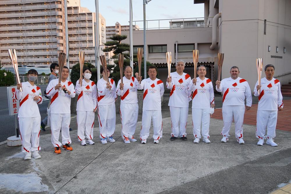稲沢市でのリレーに参加した聖火ランナー © GreeceJapan.com/Junko Nagata
