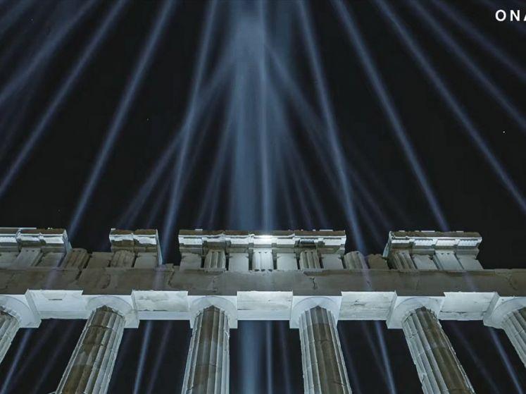 ギリシャ・アクロポリス神殿の新ライトアップが公開!(video)