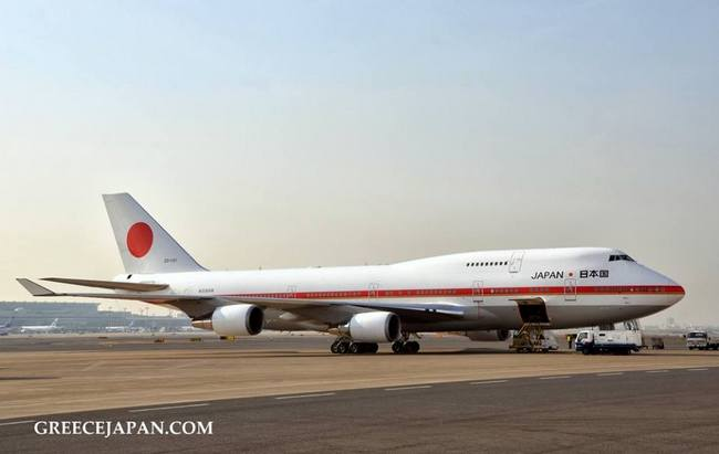"To Boeing 747-400 Japanese ""Air Force One"". photo: Junko Nagata/GreeceJapan.com"