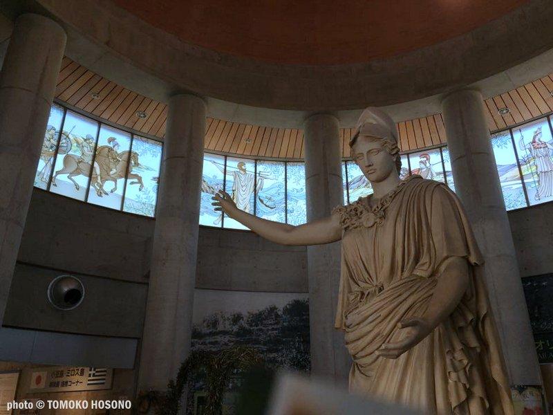 To άγαλμα της Αθηνάς στο νησί Σοντοσίμα
