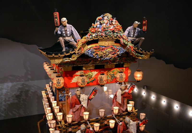 Άρμα στο μουσείο του Chichibu Yomatsuri. photo iaponia.gr