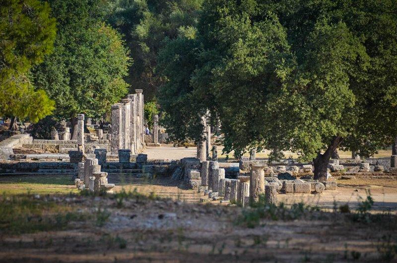 Στον αρχαιολογικό χώρο της Ολυμπίας