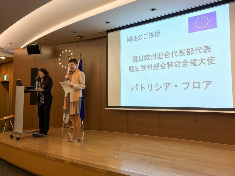 Η Πρέσβειρα της ΕΕ στην Ιαπωνία κα Πατρίτσια Φλορ